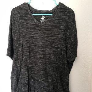 Beverly Hills Polo heather black V neck